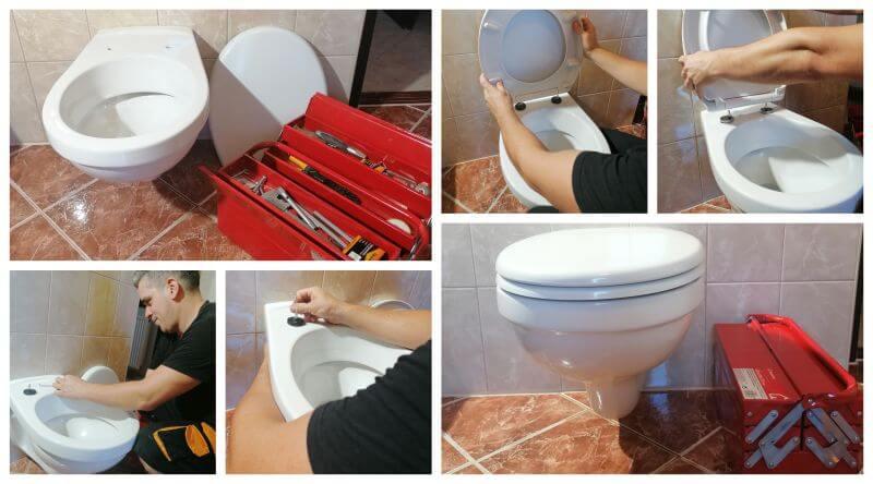 Kis munkák keretében a WC deszka cseréje történt meg lecsapódás gátlós típusra.