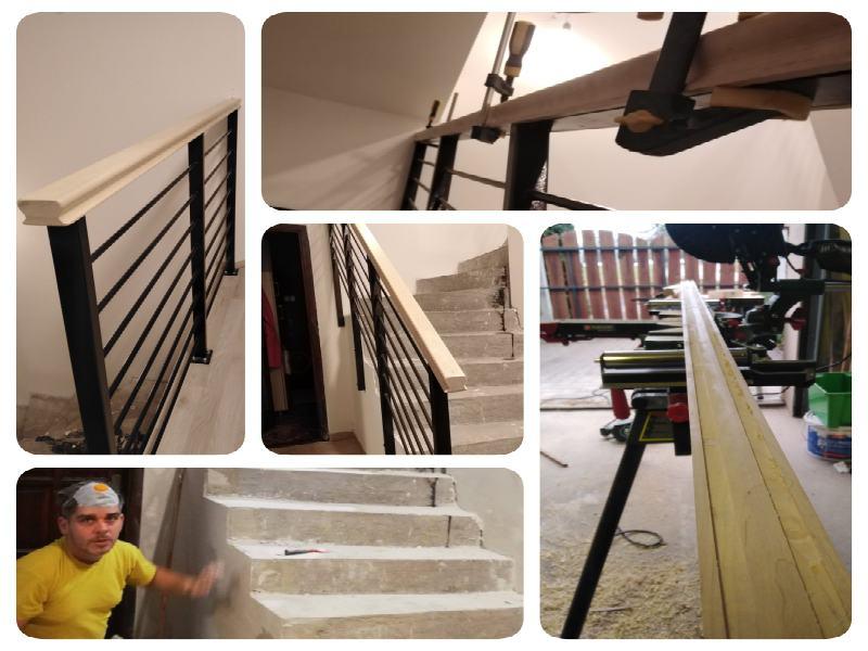 A kép a munka első fázisa a korlát elkészítését és elhelyezését mutatja.
